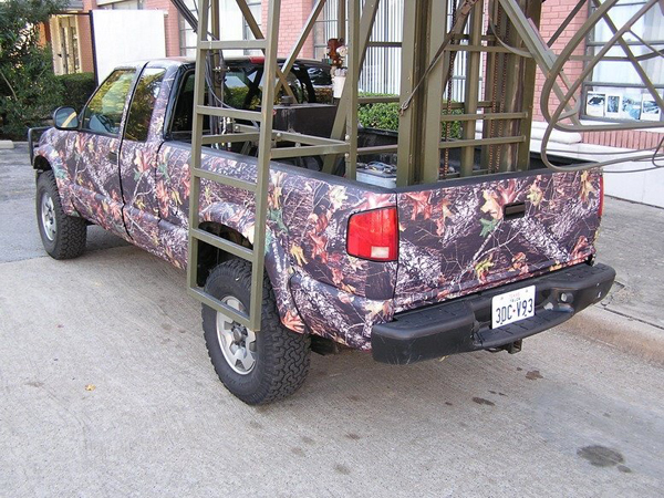 Camo wraps on hunting Truck